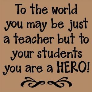 Teacher a hero
