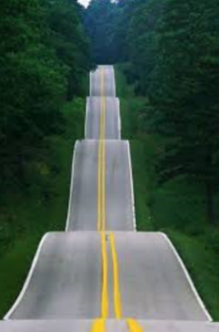 Life looks like this road sometimes.  Up and down...up and down.