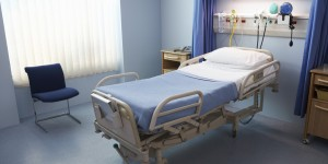 Empty Hospital Bed in a Ward