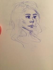 A sketch by Brooke Barrett.