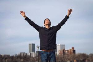 Man Worshipping God