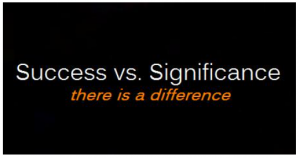 Success vs significance