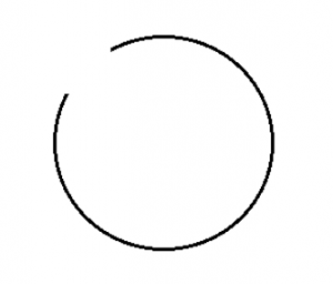 incomplete circle
