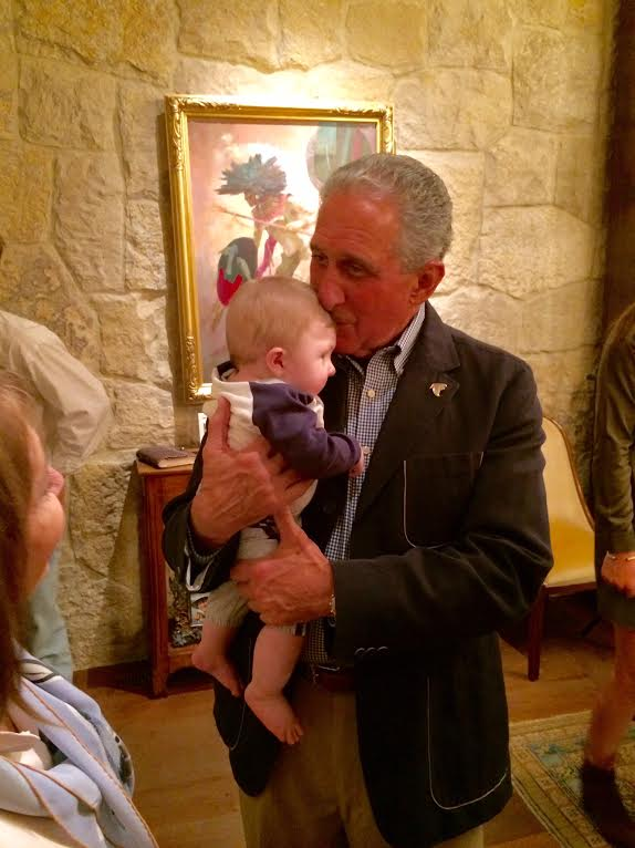 This past Monday our family was invited to the home of Arthur Blank, owner of the Falcons, to celebrate the engagement of Daniel Fields and Morgan Hensley. It would appear that our grandson Beau has found a new friend in Arthur Blank.