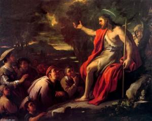 John the Baptist preparing the way
